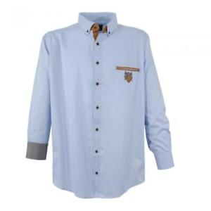 Freizeithemd 3XL hellblau Button Downkragen Übergröße