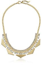 FOSSIL GOLD TONE FASHION TRIANGLE STATEMENT CRYSTAL PENDANT NECKLACE-JA6750710