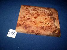 Rüster Maser Ulmenmaser Schmuckholz  Edelholz  150 x 120 x 13 mm    Nr. 996