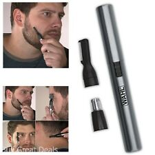 New Wahl Mens Micro Groomsman Ear/Nose/Eyebrow/Mustache/Beard Trimmer Pen Shaper