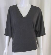 MICHAEL KORS Grey Polyester Blend Dolman Plain Basic Top Shirt Tee Medium