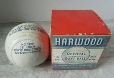 Old Vintage Harwood Official Soft Ball Natick Mass Unused in Box No.120