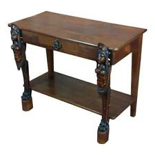 Antique Side table w/two carved Nude Female Figures