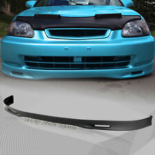For 1999-2000 Honda Civic Spoon Style Polyurethane Front Bumper Body Spoiler Lip