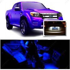 For Ford Ranger 1998+ Blue LED Interior Kit + Xenon White License Light LED