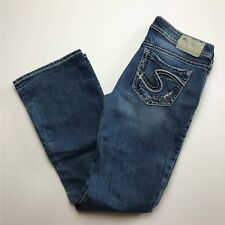 Silver Jeans Co. Aiko Bootcut Blue Heavy Stitched Pockets
