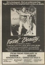 25/2/89Pgn27 Advert: On Screens 'fatal Beauty' Starring Whoopi Goldberg 7x5