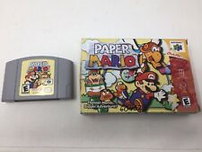 Paper Mario 64 (Nintendo 64, N64) Authentic, Includes Game And Box Tested Works