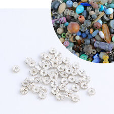 20pcs Silver sew on Rhinestones Bridal Wedding Sewing beads Any purpose diy 8m2