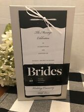 Brides Magazine Wedding Collection Black & White Layered Print Programs 40 Count
