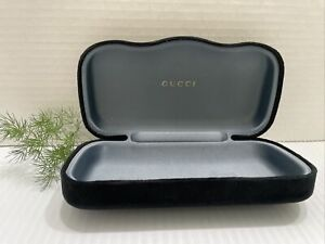 GUCCI Black Velvet Large Sunglasses Case Clamshell Hard Very Sexy