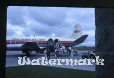 1962 kodachrome photo slide Trans Canada Airlines airplane Viscount CF-TGT 612