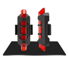 Cycling 5 LED USB Rechargeable Bike Bicycle Tail Warning Light Rear Safety Lamp Red