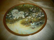 "Duck Daze/Kitten by Giordano~8 1/4"" Franklin Mint Heirloom Collector'S Plate~Euc"