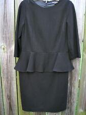 Brooks Brothers 3/4 Sleeve Black Peplum Dress Size 10  EUC