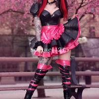 100%latex new Rubber Women Cute Maid Skirt Club Evening Dress Skirt Size XXS-XXL