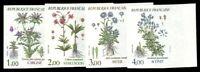 France #1870-1873 MNH CVÛ135.00 1983 1Fr-4Fr Flowers Imperf