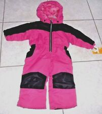 Healthtex  Winter Snow Suit Hooded Size 12 Months baby girl  pink black
