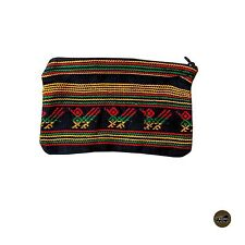 Handmade Cosmetic Bag Rasta Style 100% Cotton Multi Purpose Holder Jamaica IRIE