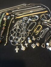 Large Sterling Silver Jewelry Lot 5 (294 Grams)