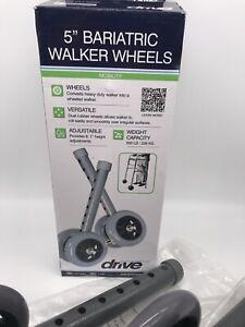 "Drive Medical 10118SV  Bariatric Walker Wheels, 5"""
