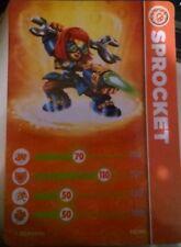 Sprocket Skylander Giants Stat Card Only!