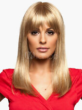 100% Echthaar  Natürlich Hellblond Bobs Dame Perücken Peluca Parrucca Haarteil