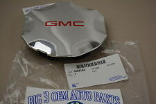 2007-2009 GMC Envoy Chrome CENTER CAP w/ Red GMC Logo new OEM 9596192