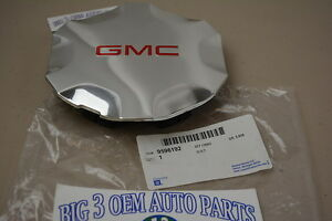 2007-2009 GMC Envoy Chrome CENTER CAP w/ Red GMC Logo new OEM 9596192
