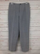 Pendleton Women's Black And White Glenn Plaid 100% Wool Dress Pants Size 10P