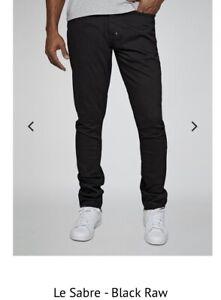 New PRPS Black Raw Le Sabre Jeans Size 36