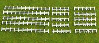 Gaugemaster GMKD13W Lineside Farm Rail Fencing Abt 750mm White Plast N Gauge 1st
