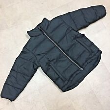 Rugged Bear Down Puffer Winter Coat Jacket Child Small Boy Girl Black Zip Up