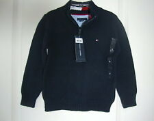 TOMMY HILFIGER Toddler Boys Navy Blue Zip Neck Sweater Size 2T NWT