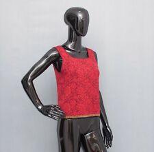 OLEANA Tank Top Red Floral Jumper Silk/Merino Wool L