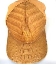 HATALLIGATOR&OSTRICH,(1)SIZE FT/ALL/FL/LINING,SNAPBACK,GOLDISH TAN,2TONE=5276