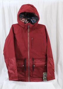 Burton Prowess Snowboard Jacket, Women's Medium, Redwood Red New