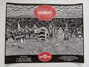 Atoms For Peace April 2010 Tour Poster Print Stanley Donwood Thom Yorke Chicago