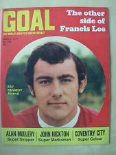 GOAL MAGAZINE APRIL 3 1971 ARSENAL - COVENTRY - LUTON - WEST BROM - BRADFORD
