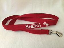 Just Pawfect embroidered personalised Dog Lead