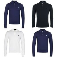 Men's Ralph Lauren Long Sleeve Cotton Pique  Cutom Fit Polo Shirt