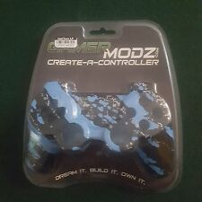 GamerModz Light Blue Marble Hydro-Dipped Custom Controller Shell for PS3 - NEW