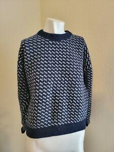 Vintage 80s 90s LL Bean Norwegian Fisherman Birdseye Sweater Norway Mens Size S