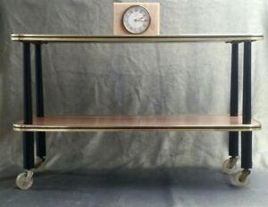 Original Vintage Titan Mid Century 60s Wood Effect Hostess Trolley Side Table