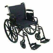 "Lightweight Wheelchair McKesson 18"" Seat Width 300 lbs. Weight Capacity (1 Each)"