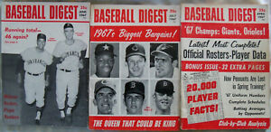 BASEBALL DIGEST April June July 1967