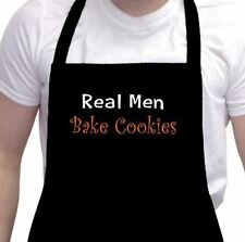 Real Men Bake Cookies Grilling Cooking Funny Black Barbeque Dad's Day Gift Apron