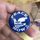 1969 Vietnam Anti-War Protest Cause March On Washington Peace BUTTON PINBACK PIN