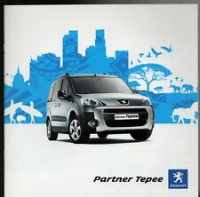 Peugeot Partner Tepee 2009-10 UK Market Sales Brochure S Outdoor Zenith