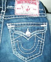 *HOT USA AUTHENTIC Men TRUE RELIGION @ JOEY SUPER T FLARED BOOTCUT Jeans 28 x 31